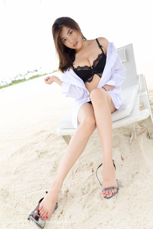 比基尼白衬衫爆乳诱惑美女性感女神沙滩美女波萝社-[许诺Sabrina]超高清写真图片|1620117835更新