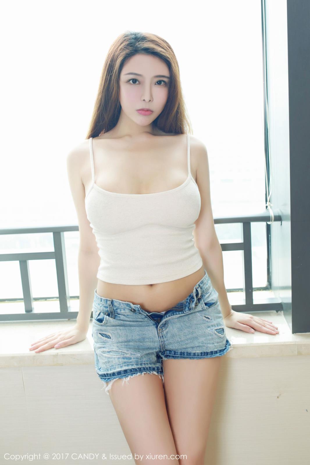 美胸大尺度美腿热裤私房照美女模特糖果画报-[夏小秋]超高清写真图片|1620066687更新