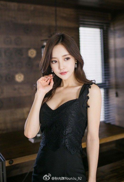 美胸波涛胸汹黑丝美腿美女模特韩国美女-[孙允珠]超高清写真图片|1620070150更新