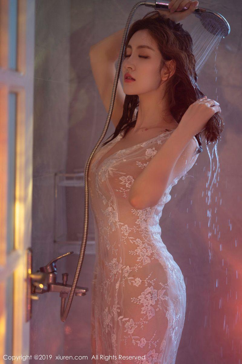 浴室美女透视装无圣光大尺度湿身诱惑美女模特秀人网-[沈梦瑶]超高清写真图片 1620327320更新