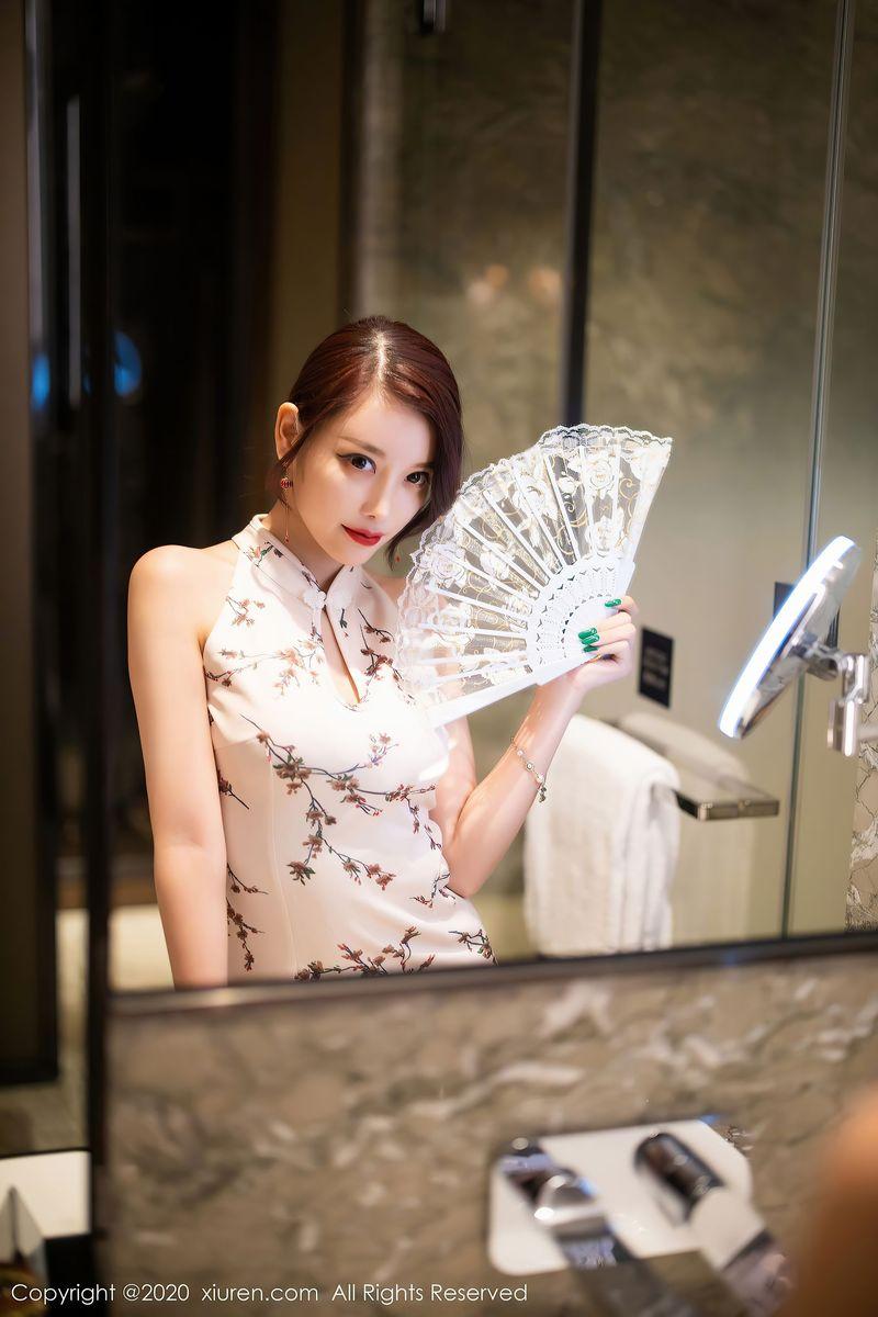旗袍美女丝袜美腿翘臀浴室美女性感女神秀人网-[杨晨晨]超高清写真图片 1620397649更新