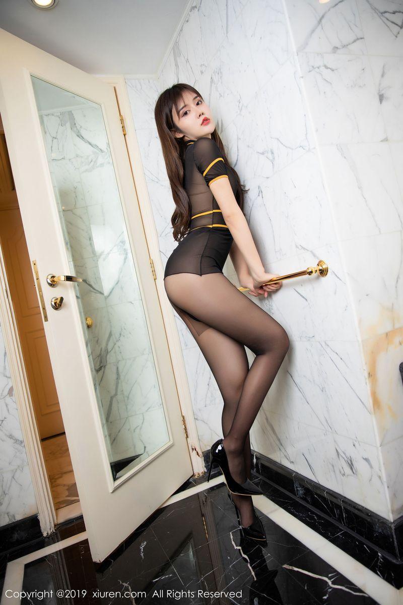 黑丝美腿内衣诱惑透视装情趣内衣浴室美女性感女神秀人网-[卓娅祺]超高清写真图片 1620350239更新
