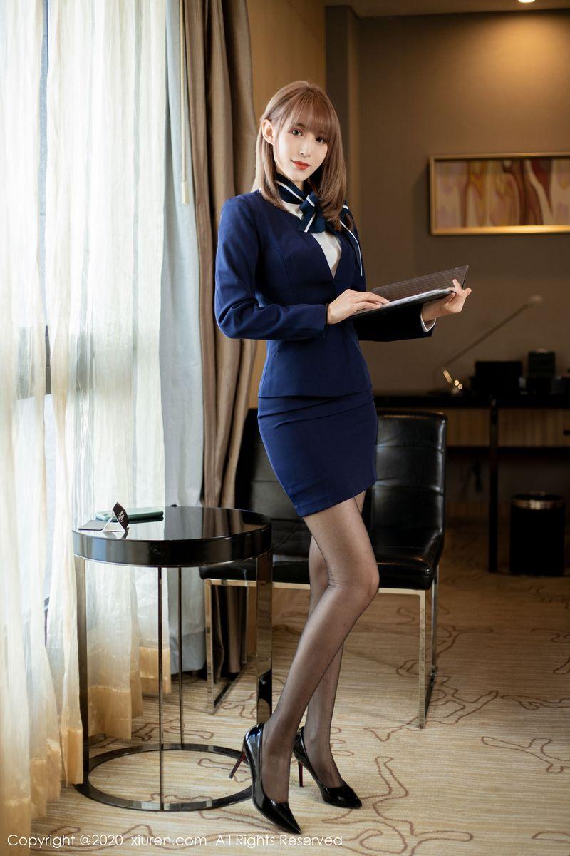 职场OL女秘书黑丝美腿内衣诱惑嫩模美女模特秀人网-[周慕汐]超高清写真图片|1620363392更新