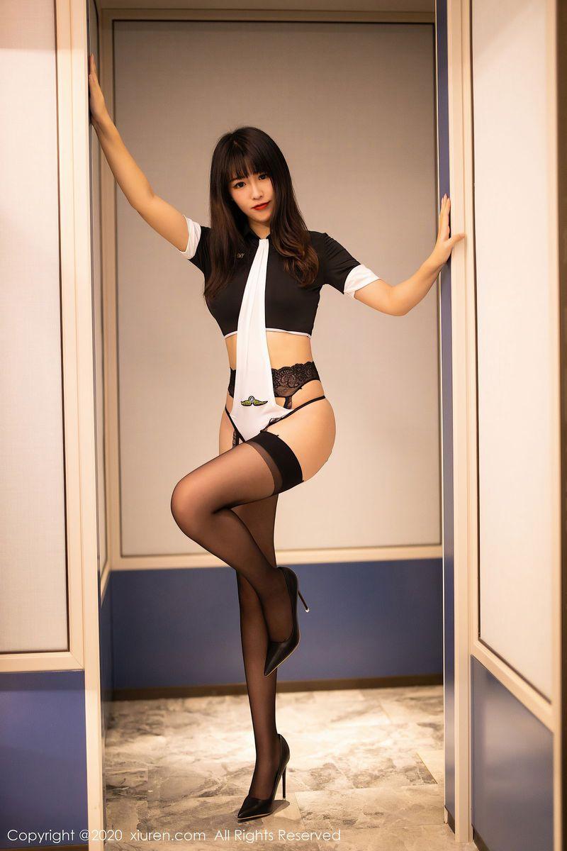 黑丝美腿吊袜情趣内衣翘臀丁字裤美女模特秀人网-[童千艺]超高清写真图片|1620364050更新