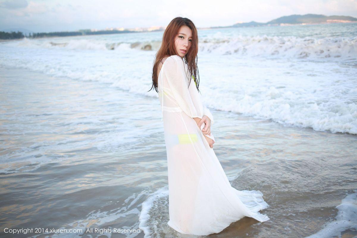 比基尼沙滩美女透视装嫩模美女模特秀人网-[嘉宝贝儿]超高清写真图片 1620405483更新
