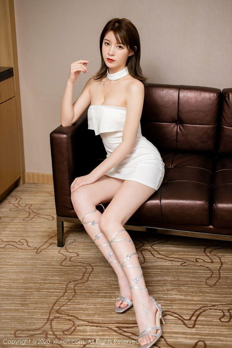 美腿抹胸裙内衣诱惑性感美女美女模特秀人网-[yoo优优]超高清写真图片|1620409694更新