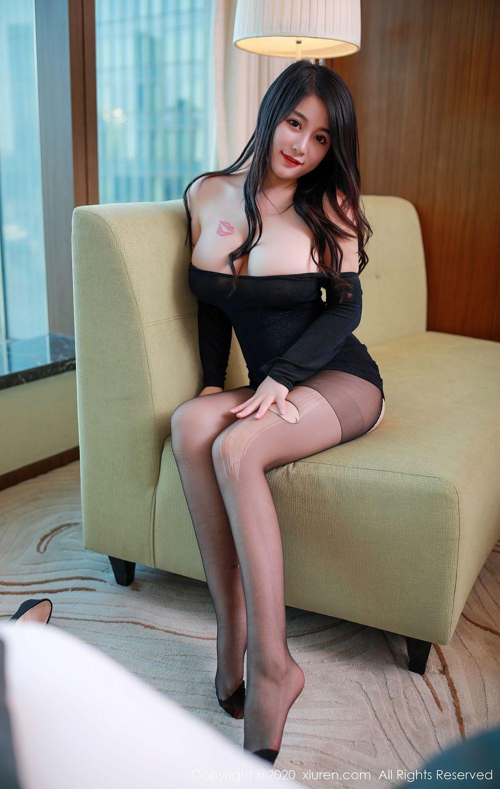 童颜巨乳血滴子黑丝美腿内衣诱惑美女模特秀人网-[美七Mia]超高清写真图片|1620417185更新