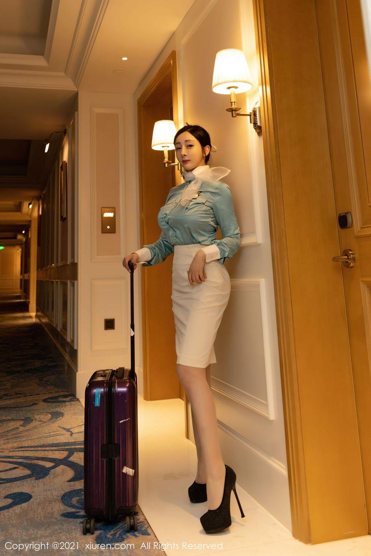 空姐波涛胸涌内衣诱惑丝袜美腿大尺度美女模特秀人网-[允爾]超高清写真图片|1620434745更新